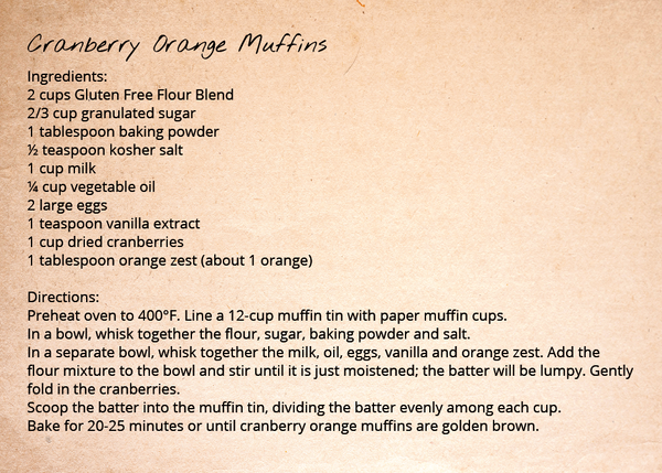 Gluten Free Flour Blend - Cranberry Orange Muffins