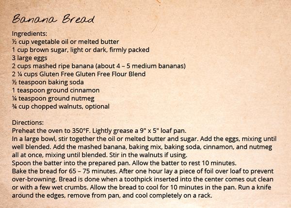 Gluten Free Flour Blend - Banana Bread