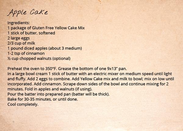 Yellow Cake Recipe - Apple Cake