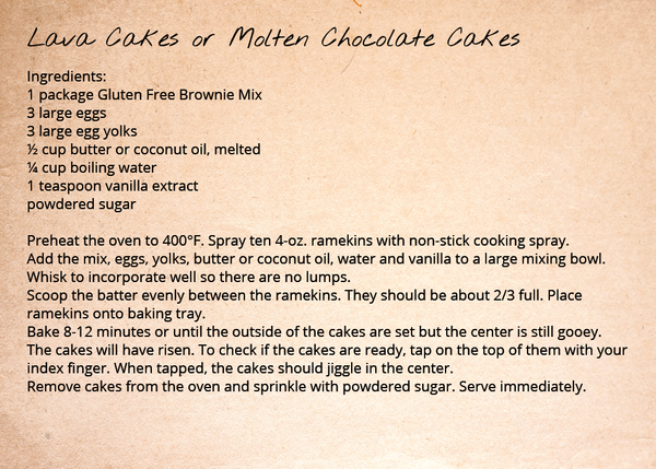 Brownie Mix - Lava Cakes or Molten Chocolate Cakes