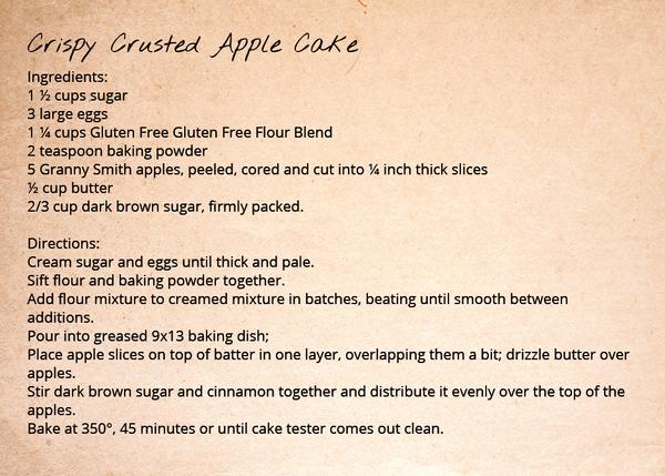 Gluten Free Flour Blend - Crispy Crusted Apple Cake
