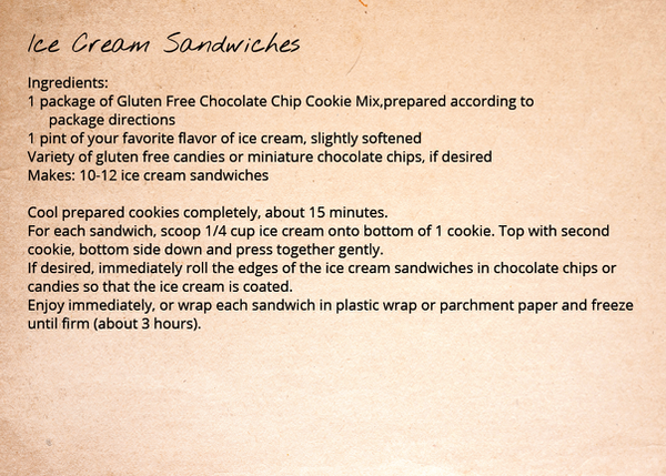 Chocolate Chip Cookie Recipe - Ice Cream Sandwiches