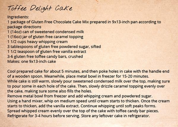 Chocolate Cake Recipe - Toffee Delight Cake