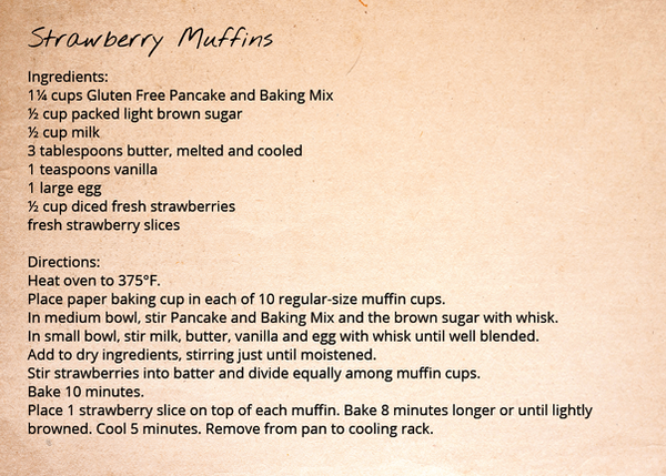 Pancake and Baking Mix - Strawberry Muffins