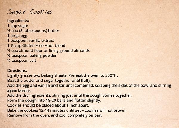 Gluten Free Flour Blend - Sugar Cookies