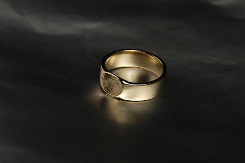 кольцо с отпечатком