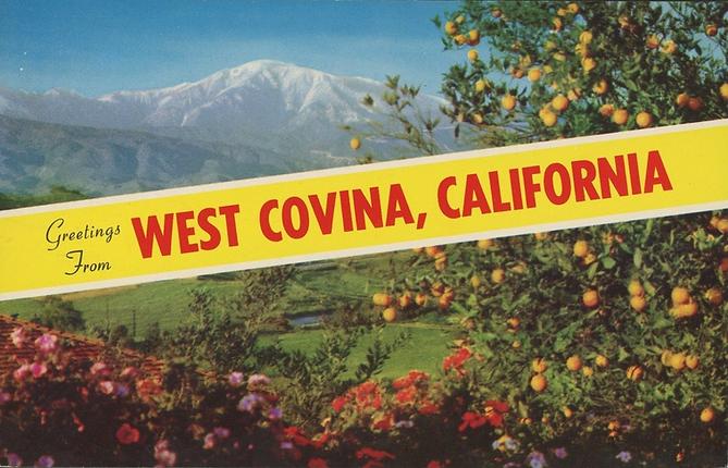 Vintage West Covina postcard