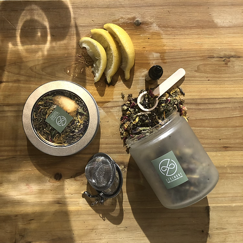 Transformation Tea & Tincture Gift Set (14g tin)