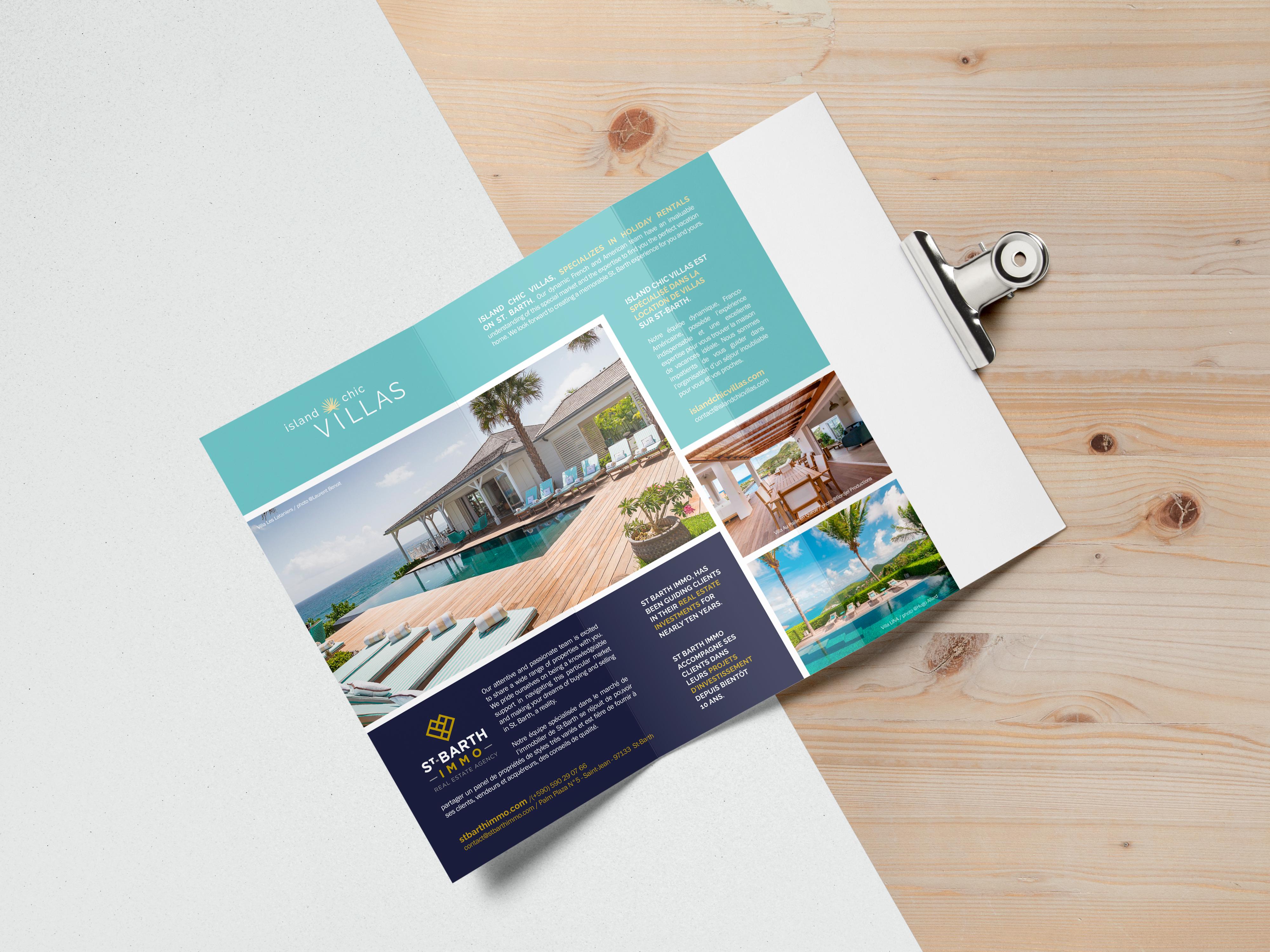 création graphique dépliant, brochure