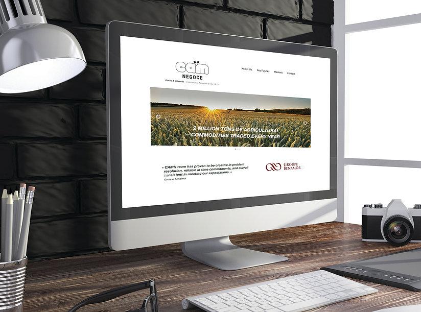 Création site internet CAM NEGOCE
