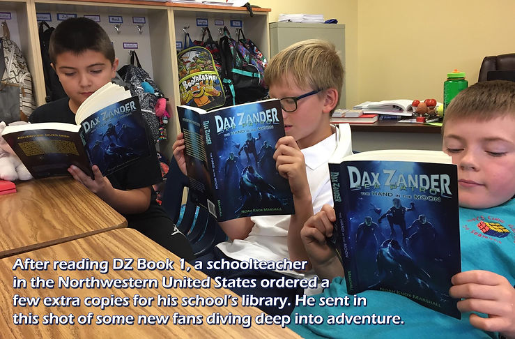 A teacher ordered extra copies of book 1 for the school library. Here, 3 young fans are diving deep!