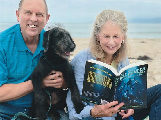 This lovely couple is testing out book one on their adorable puppy, Nora!