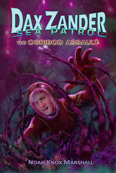 The Book 2 Cover finds Dax struggling for his life on the ocean floor of a new and dangerous planet!