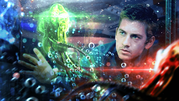 Shaw Zander, a budding marine biologist, gazes at a strange creature, aglow and floating in a tank.