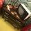Thumbnail: Commode 3 tiroirs en plaquage foncé vernis