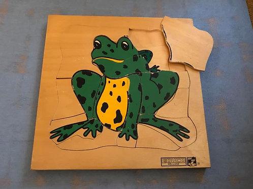Puzzle en bois : La grenouille