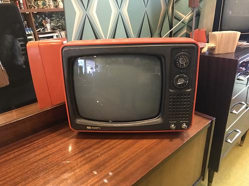 TV SAMPO coloris orange