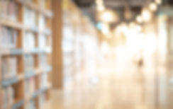 Abstract blurred empty college library i