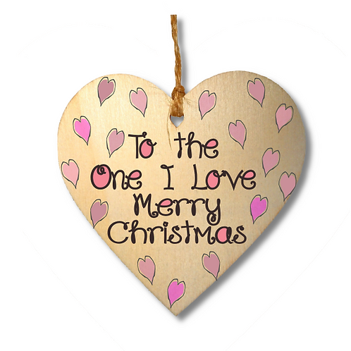 To the One I Love Merry Christmas-