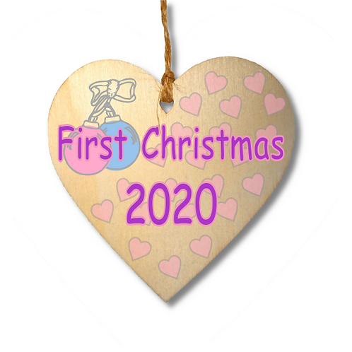 First Christmas 2020 Pink-