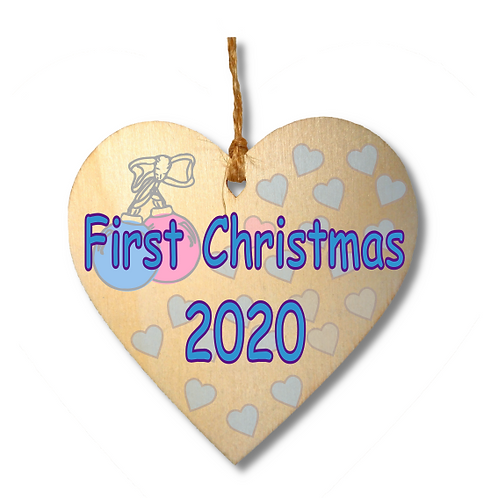 First Christmas 2020 Blue-