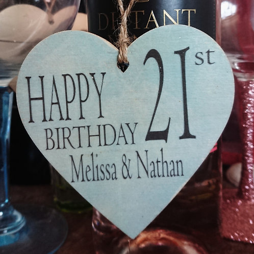 Personalise your own Birthday Heart