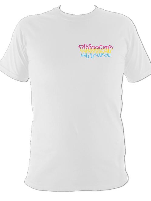 Pansexual Pride Flag Tee 2 (White)