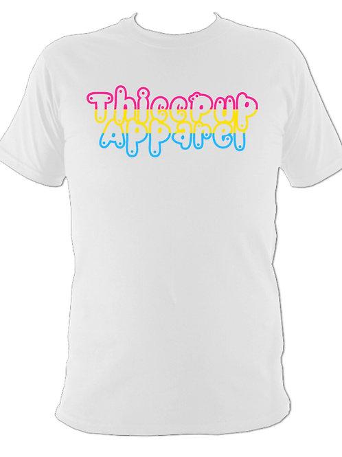Pansexual Pride Flag Tee 3 (White)