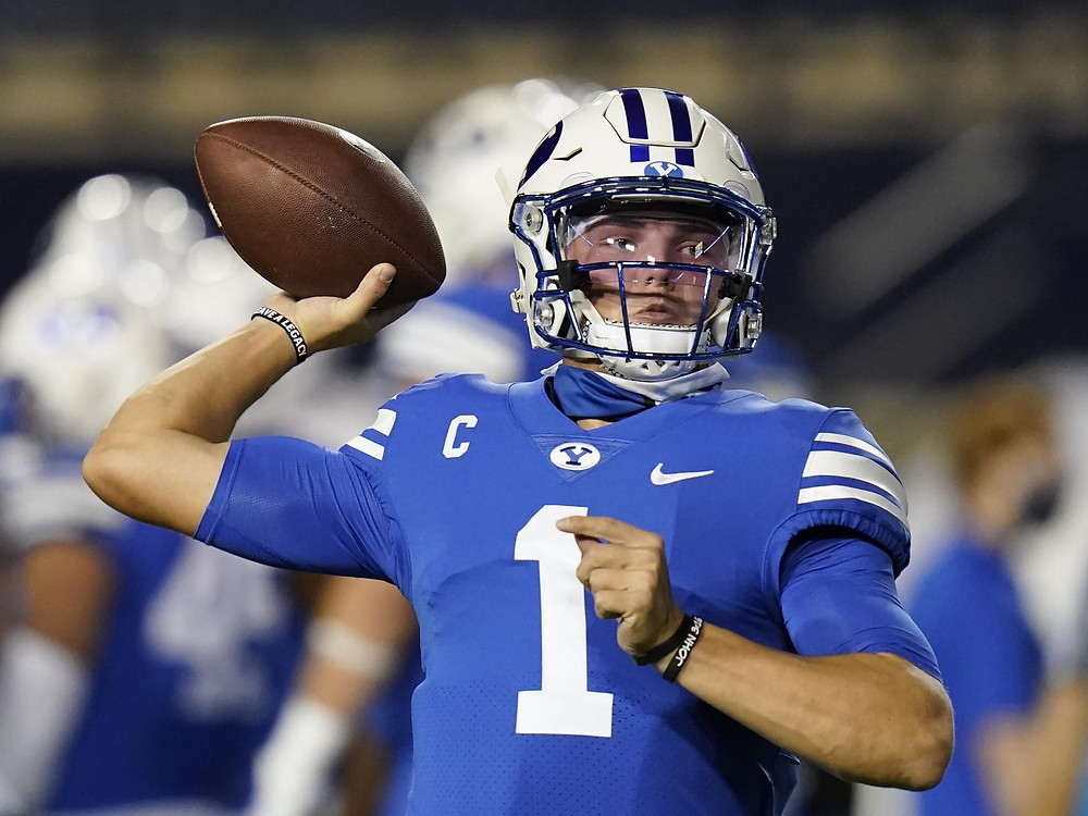 Zach Wilson of BYU is the third quarterback taken in our 2021 NFL mock draft. He is selected by the Atlanta Falcons as a long term successor to Matt Ryan.