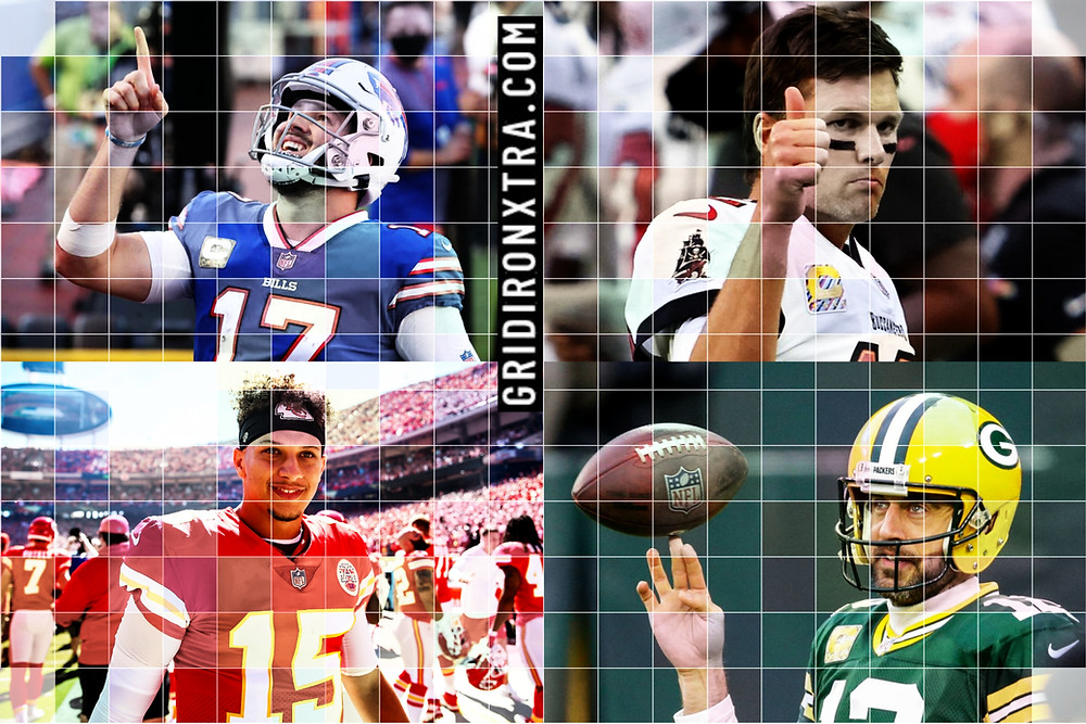Josh Allen of the Buffalo Bills, Patrick Mahomes of the Kansas City Chiefs, Tom Brady of the Tampa Bay Buccaneers and Aaron Rodgers of the Green Bay Packers will compete on Sunday 24th January in the AFC and NFC Conference Championship games for a chance to play in Super Bowl LV which will be held in Tampa, Florida on Sunday 7th February 2021