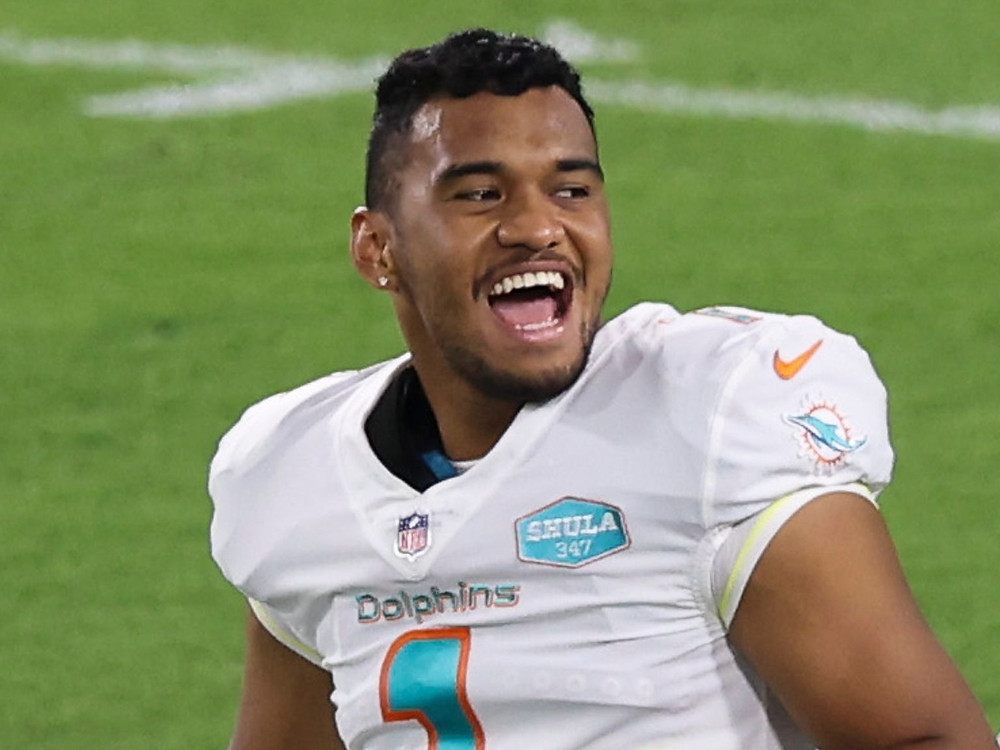 Tua Tagovailoa of the Miami Dolphins has been suggested as potential trade compensation if the Houston Texans trade Deshaun Watson this 2021 NFL offseason
