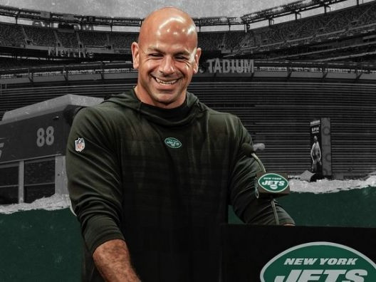 Newly appointed head coach of the NFL's New York Jets Robert Saleh gives a press conference as he begins his tenure in charge of the franchise. Could Deshaun Watson of the Houston Texans soon be joing him in New York via a trade?