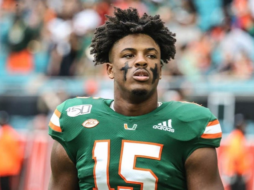 Gregory Rousseau of the Miami Hurricanes was drafted in the first round by the Buffalo Bills.