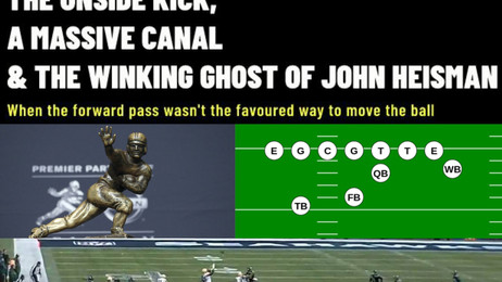 The Onside Kick, A Massive Canal and the Winking Ghost of John Heisman