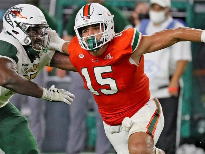 Miami's Jaelan Phillips will enter the 2021 NFL Draft in April and may become a first round pick. Today, we look at Jaelan Phillips' 2021 NFL Draft Scouting Report and asses whether he is the best pass rusher in the draft.