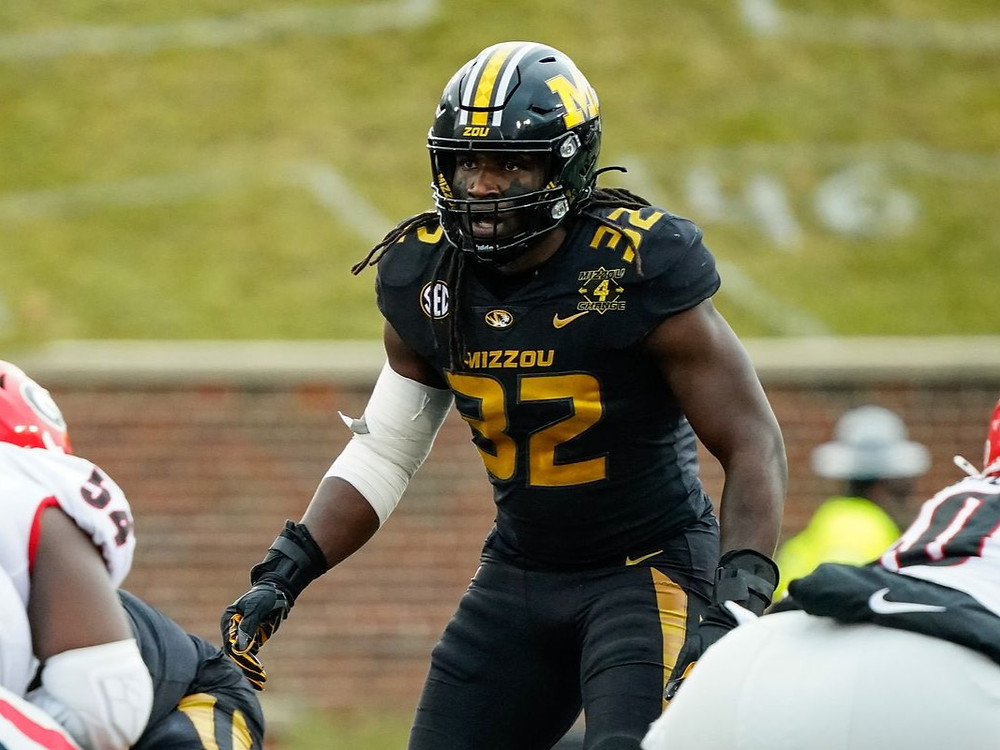 Nick Bolton of Mizzou, drafted by the Kansas City Chiefs in the 2021 NFL Draft.