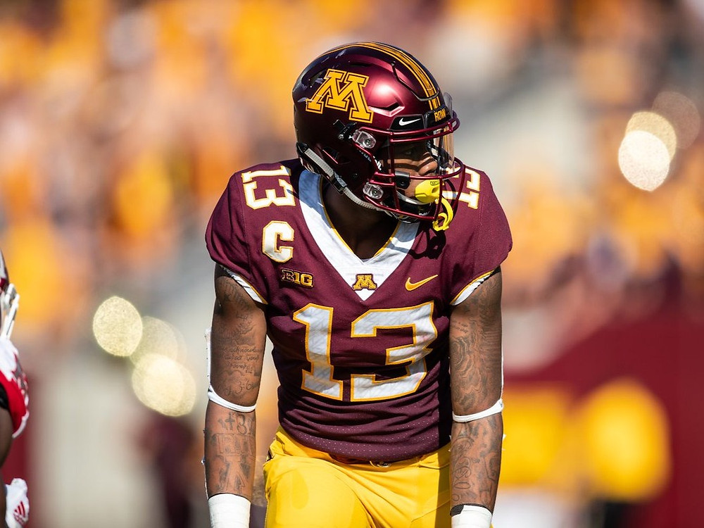 Rashod Bateman, the Minnesota Golden Gophers wide receiver should be a first round pick in the 2021 NFL Draft. We mock him to the Miami Dolphins in this mock draft.