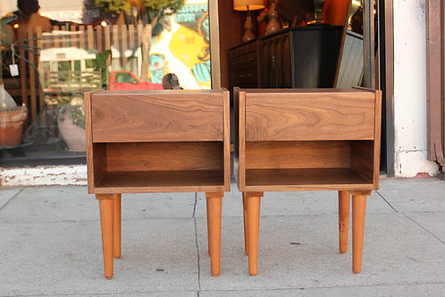 Pair of walnut night stands