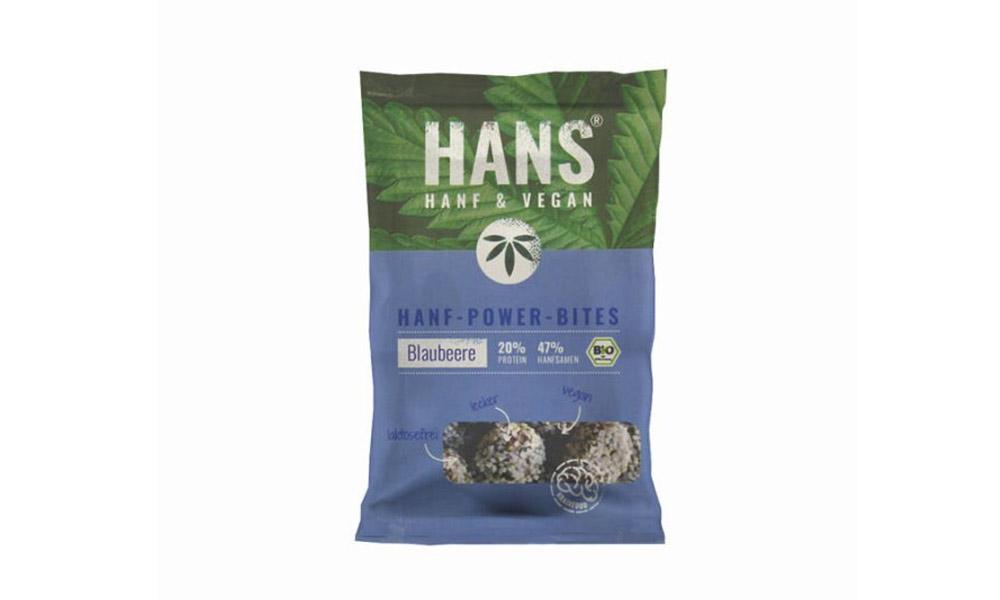"Trockenprodukte, Snacks & Süßigkeiten: ""Hanf Bites"" (Hans Brainfood). © PR Material"