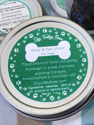 Dog Nose and Paw Lotion