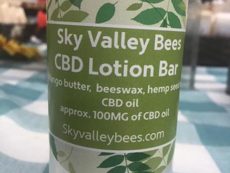 Sky Valley Bees  Hemp CBD Lotion Bar