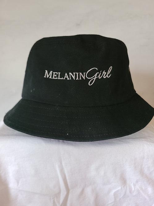 MelaninGirl embroidered logo bucket hat