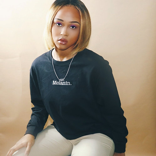 Embroidered long sleeve Melanin. Shirt