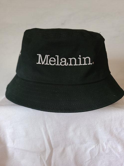 Melanin. Embroidered bucket hat