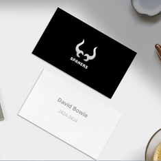 Spaners logo on visiting card