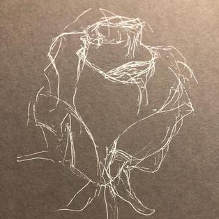 gelpen rose drawing