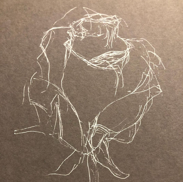 gelpen rose drawing