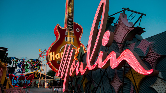 The Neon Museum Lights-Up Historic Moulin Rouge Sign