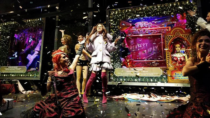 Zendaya Unveils Bloomingdale's Holiday Windows Inspired by 'The Greatest Showman'