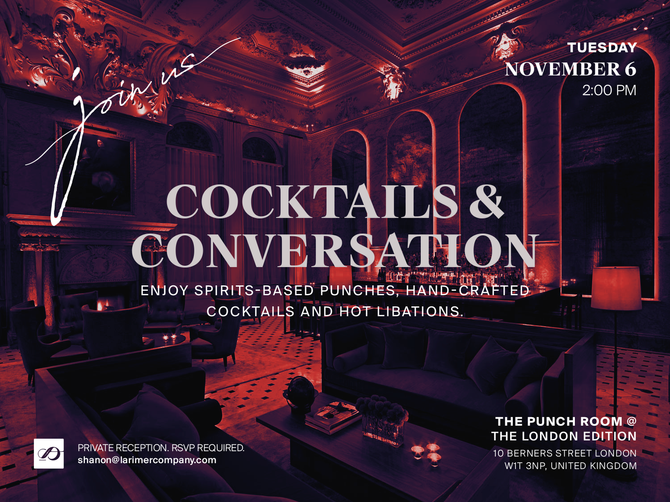 Larimer & Co. to Host Cocktails & Conversations at World Travel Market